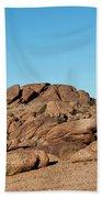 Tumbling Rocks Of Gold Butte Bath Towel
