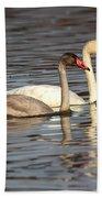 Tundra Swan And Cygnet Bath Towel