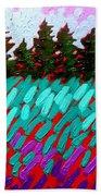 Turquoise Field Bath Towel