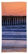 Twilight At Imperial Pier Hand Towel