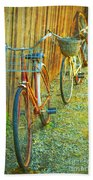 Two Bicyles Bath Towel