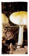 Two Death Cap Mushrooms Bath Towel