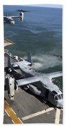 Two Mv-22 Ospreys Land On The Flight Bath Towel