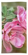 Two Pink Roses II Blank Greeting Card Bath Towel