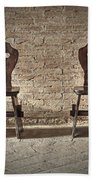 Two Wooden Chairs Bath Towel