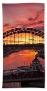 Tyne Bridges At Sunrise IIi Bath Towel