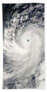 Typhoon Man-yi Bath Towel