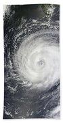 Typhoon Muifa East Of Taiwan Bath Towel