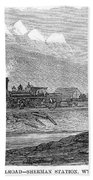 Union Pacific Station, 1869 Bath Towel