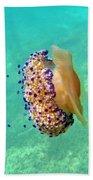 Unwelcome Jellyfish Bath Towel