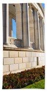 Upclose Of Arlington Memorial Amphitheater Bath Towel