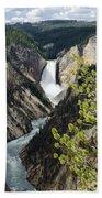 Upper Falls Of The Yellowstone River Bath Towel