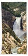Upper Falls Yellowstone Bath Towel