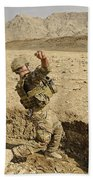 U.s. Air Force Soldier Throws A Frag Bath Towel