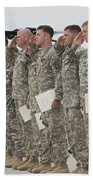 U.s. Army Soldiers And Recipients Hand Towel