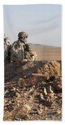 U.s. Army Soldiers At A Checkpoint Bath Towel