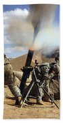 U.s. Army Soldiers Firing A 120mm Hand Towel