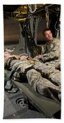U.s. Army Specialist Practices Giving Bath Towel