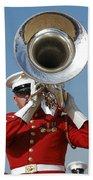 U.s. Marine Corps Drum And Bugle Corps Bath Towel