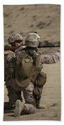 U.s. Marines Load A Fragmentation Round Hand Towel