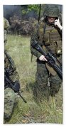 U.s. Marines Secure A Perimeter Bath Towel