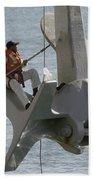 U.s. Navy Servicemen Apply A Coat Bath Towel