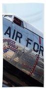 Usaf Douglas Dc-3 Transport Aircraft Bath Towel