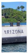 Uss Arizona Bb 39 Marker Bath Towel