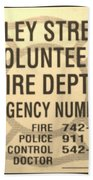 Vallet Stream Fire Department In Sepia Hand Towel