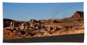 Valley Of Fire Winding Road Bath Towel