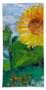 Van Gogh Sunflowers Bath Towel