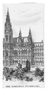 Vienna: City Hall, 1889 Bath Towel
