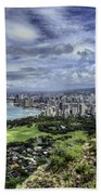 View From Diamond Head Bath Towel
