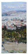 View Of Athens From Acropolis Bath Towel