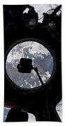 View Of Earth Through The Cupola Bath Towel