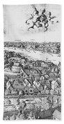 View Of London, 1647 Bath Towel