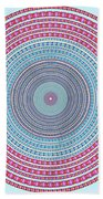 Vintage Color Circle Hand Towel