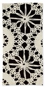 Vintage Crocheted Doily Bath Towel