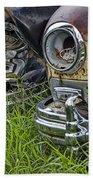 Vintage Frazer Auto Wreck Front Ends Bath Towel