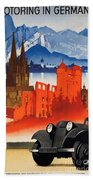 Vintage Germany Travel Poster Bath Towel