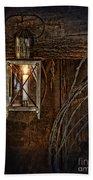 Vintage Lantern Hung In A Barn Bath Towel