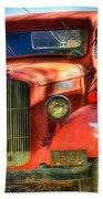 Vintage Red Dodge Bath Towel