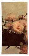 Vintage Roses Bath Towel