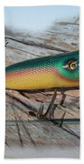 Vintage Saltwater Fishing Lure - Masterlure Rocket Bath Towel