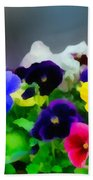 Viola Tricolor Heartsease Bath Towel