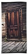 Virginia City Ghost Town Door I Bath Towel