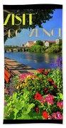 Visit Provence Poster Bath Towel
