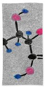 Vitamin C Molecule Bath Towel