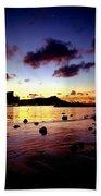 Waikiki Lagoon Dawn Bath Towel