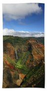 Waimea Canyon Landscape Bath Towel